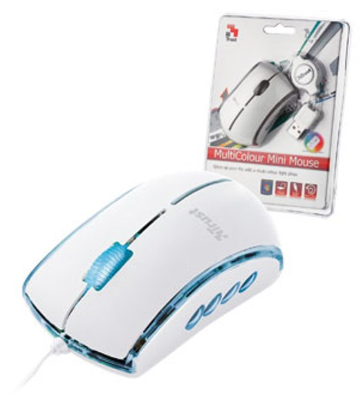 Trust Mini Mouse USB Multi Colore White BIANCO 16638