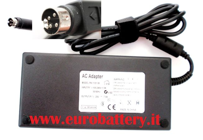 Alimentatore per TV LCD Monitor Display 24V 7,5A 4 pin 180W