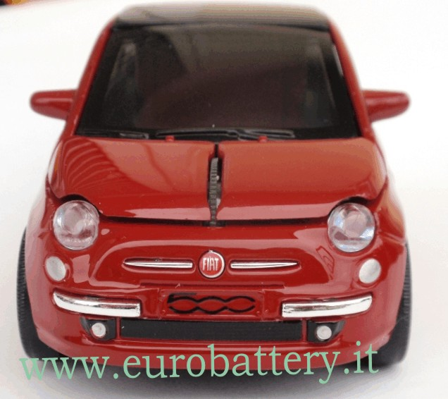 Mouse ottico Wireless Auto FIAT New 500 RED optical