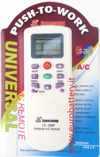 A/C Universal Remote Control 1000 modelli Easy to Use