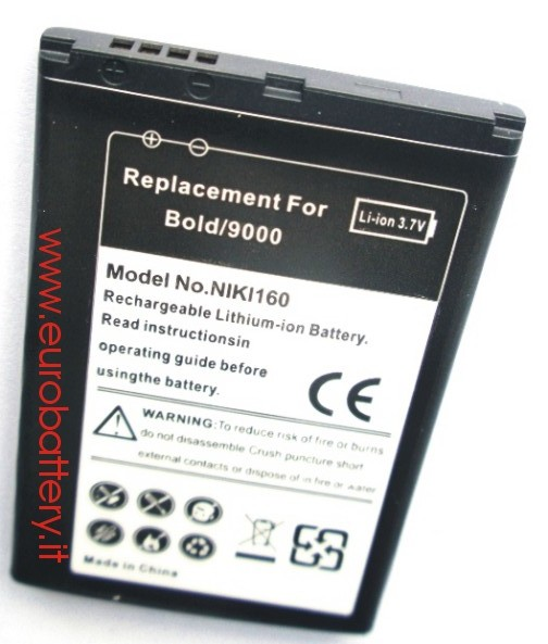 Batteria x RIM BlackBerry M-S1 MS1 BOLD 9000 1300 mAH