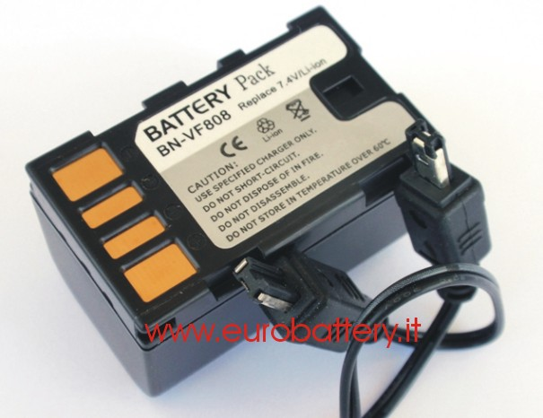 Batteria x JVC BN-VF808 VF808U GR-D720 GZ-HD7 MG150 130
