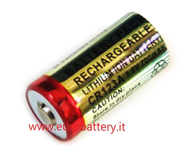 2 Batterie + charger EL123A Li-ion 3,6V 700mAH CR123A