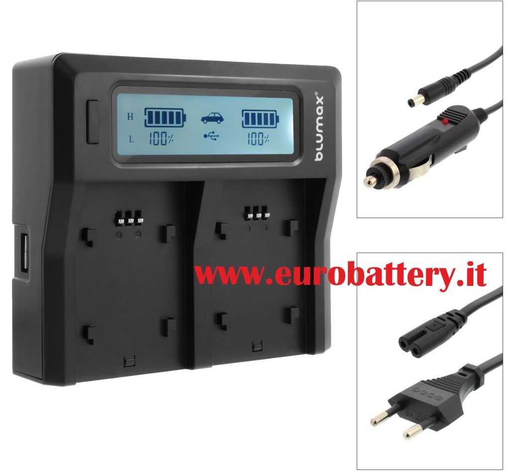 LCD Display Dual Digital Battery Charger CANON BP-930 BP-945