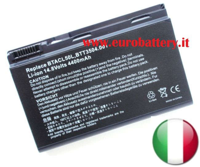 Batteria GRAPE32 GRAPE34 14,8V per ACER 5210 5220 5310 5320 5520