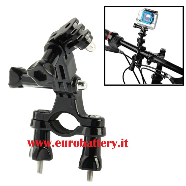 ST-02 Supporto+2 snodi bracci HOLDER BICI per Gopro HD HERO 2 3