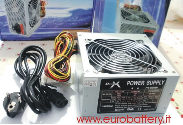 Silent POWER X Alimentatore PC 600W 600 W Fan 12 CM