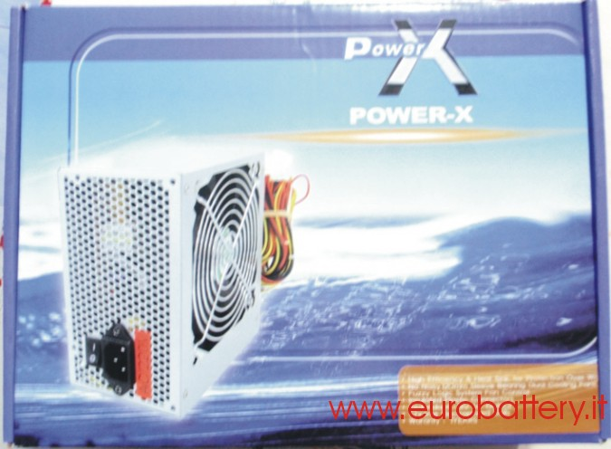 Silent POWER X Alimentatore PC 500W 500 W Fan 12 CM