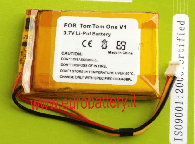 BATTERIA GPS TOM TOM ONE V1 XL F54629661 CS-TM600SL