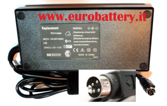 Alimentatore per TV LCD Monitor Display 12V 12,5A 4 pin 150W
