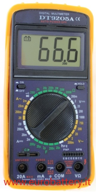 Multimetro Digitale DT-9205A Tester LCD 3 1/2 Dispaly Grande