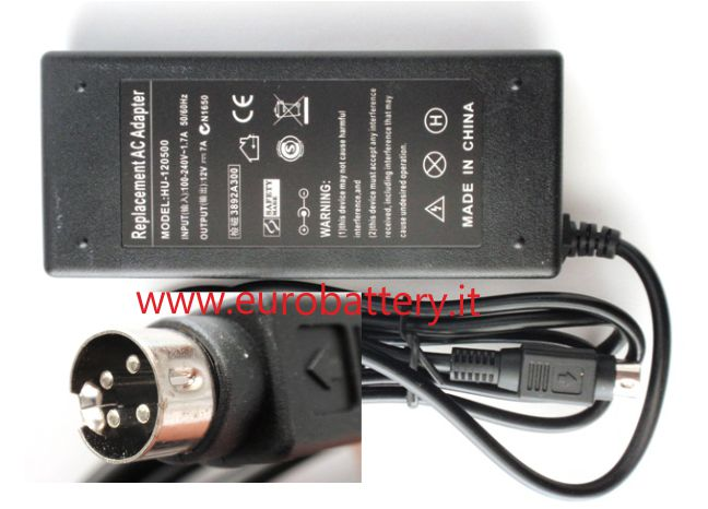 Alimentatore per TV LCD Monitor Display 12V 7A 4 pin 85W