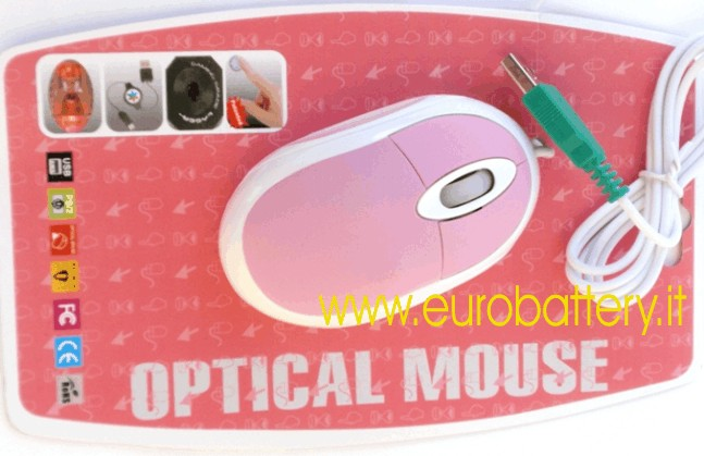 Mouse ROSA PINK Passion cavo USB 800 DPI PC NOTEBOOK